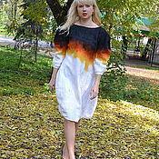 """Одежда ручной работы. Ярмарка Мастеров - ручная работа валяное платье """"осень"""". Handmade."""