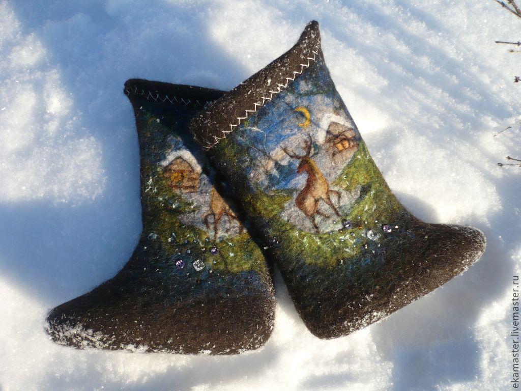 Handmade Shoes handmade. Livemaster - handmade. Buy Boots - samochody 'Uralskie SKAZY'.Boots, handmade boots, boots pattern