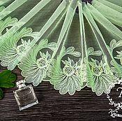 Материалы для творчества ручной работы. Ярмарка Мастеров - ручная работа Кружево 438 вышивка на сетке, кружево с вышивкой. Handmade.