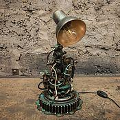 Для дома и интерьера ручной работы. Ярмарка Мастеров - ручная работа Лампа Техно Арт (Настольная лампа). Handmade.