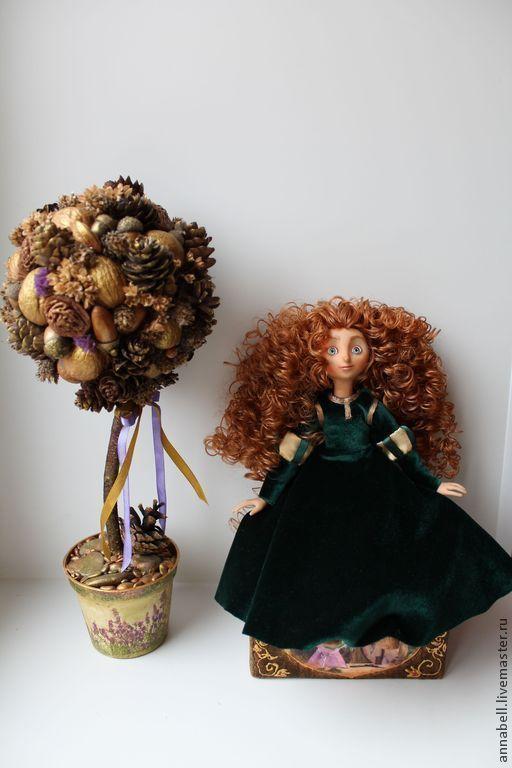 Коллекционные куклы ручной работы. Ярмарка Мастеров - ручная работа. Купить Мерида. Handmade. Мерида, игрушка в подарок, текстиль