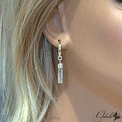 Украшения handmade. Livemaster - original item Earrings with crystals of aquamarine. Handmade.