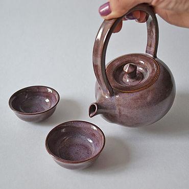 Посуда ручной работы. Ярмарка Мастеров - ручная работа Чайный набор. Handmade.