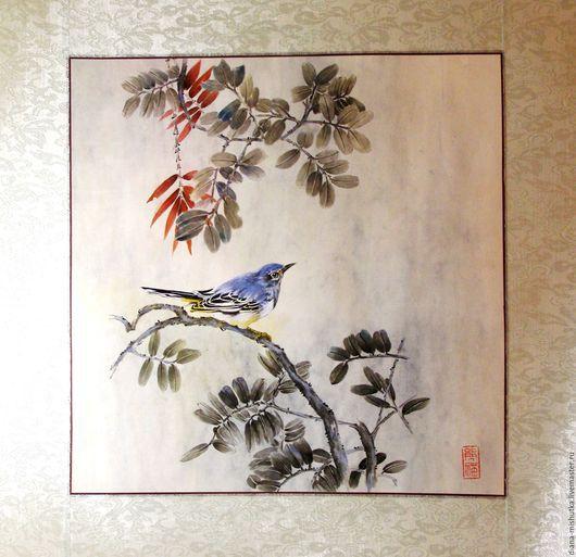 Животные ручной работы. Ярмарка Мастеров - ручная работа. Купить Синяя птица. Handmade. Синяя птица, диана медведева, тушь