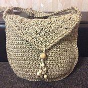 Сумки и аксессуары handmade. Livemaster - original item Bag - bag knitted from jute. Handmade.