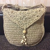 Сумка-торба ручной работы. Ярмарка Мастеров - ручная работа Сумка- торба вязаная из джут. Handmade.