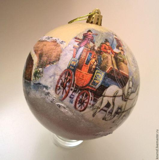 Новый год 2017 ручной работы. Ярмарка Мастеров - ручная работа. Купить Шар елочный. Handmade. Комбинированный, Новый Год