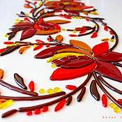 Для дома и интерьера ручной работы. Ярмарка Мастеров - ручная работа панно из стекла, фьюзинг  Веточка. Handmade.