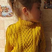 """Работы для детей, ручной работы. Ярмарка Мастеров - ручная работа """"Солнечный"""" мериносовый свитер для девочки. Handmade."""