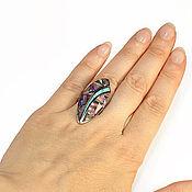 Украшения handmade. Livemaster - original item RING with charoite, turquoise, lapis lazuli. Natural stones.. Handmade.