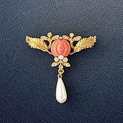 """Винтаж ручной работы. Ярмарка Мастеров - ручная работа Винтажная брошь """"Нежный бутон"""". 1928 Jewelry Company. Handmade."""