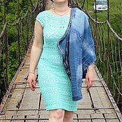 Одежда ручной работы. Ярмарка Мастеров - ручная работа Платье цвета мяты вязаное. Handmade.