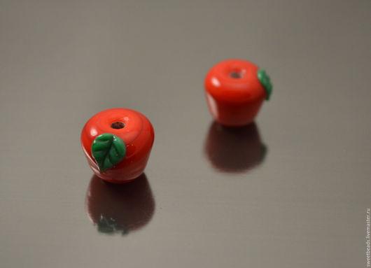 Для украшений ручной работы. Ярмарка Мастеров - ручная работа. Купить Бусина Яблоко красное лампворк лэмпворк. Handmade. Лампворк