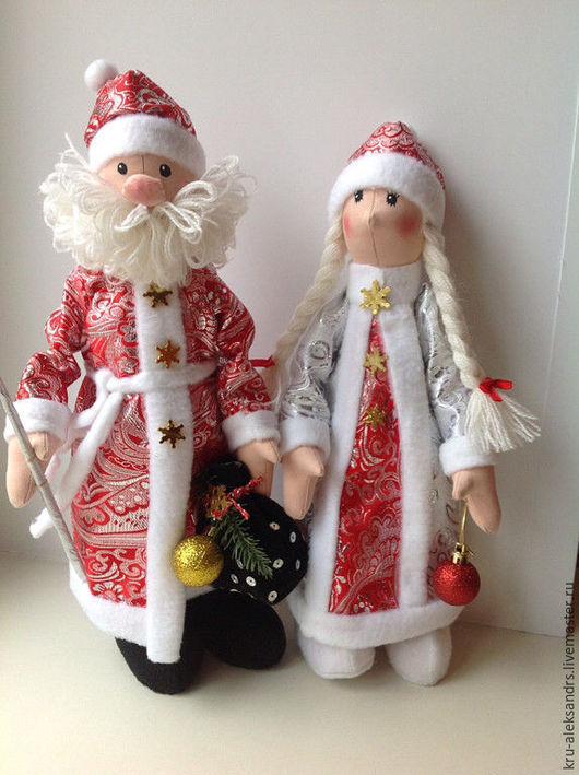 Куклы Тильды ручной работы. Ярмарка Мастеров - ручная работа. Купить Дед Мороз  и Снегурочка. Handmade. Игрушка ручной работы