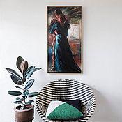 Картины ручной работы. Ярмарка Мастеров - ручная работа Двое у окна, картина маслом на холсте, влюбленные, двое, любовь. Handmade.
