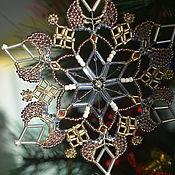handmade. Livemaster - original item Snowflake wicker on the Christmas tree and in the interior. Handmade.
