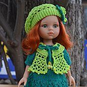 Куклы и игрушки handmade. Livemaster - original item Dress, vest, beret and leggings for Paola Reina doll.. Handmade.