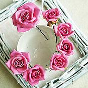 Украшения handmade. Livemaster - original item A set of studs Rose color fondant. Handmade.