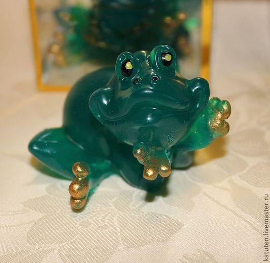Мыло ручной работы. Ярмарка Мастеров - ручная работа. Купить Мыло Царевна лягушка. Handmade. Тёмно-зелёный, царевна
