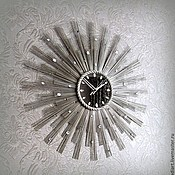 """Для дома и интерьера ручной работы. Ярмарка Мастеров - ручная работа Настенные часы """"Брызги шампанского-2"""". Handmade."""
