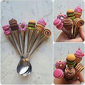 Посуда ручной работы. Ярмарка Мастеров - ручная работа Сладкая ложечка для чая из полимерной глины. Handmade.