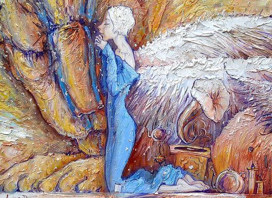 """Символизм ручной работы. Ярмарка Мастеров - ручная работа. Купить """" Анжелюс или вечерняя молитва"""". Handmade. Ангел"""