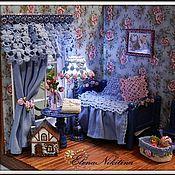 Куклы и игрушки ручной работы. Ярмарка Мастеров - ручная работа Румбокс Голубая комната. Handmade.