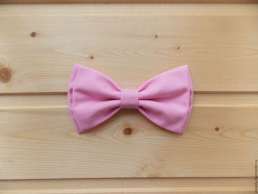 Галстуки, бабочки ручной работы. Ярмарка Мастеров - ручная работа. Купить Галстук бабочка розовая / однотонная бабочка галстук розового цвета. Handmade.