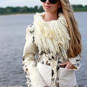 "Одежда ручной работы. Ярмарка Мастеров - ручная работа Куртка валяная ""Снежный барс"". Handmade."