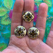 Украшения handmade. Livemaster - original item @ Cold enamel earrings and ring . Hypoallergenic accessories.. Handmade.