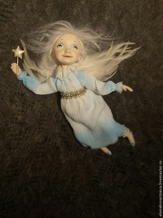 Коллекционные куклы ручной работы. Ярмарка Мастеров - ручная работа. Купить Ангел рождественский  летящий. Handmade. Ангел, кукла в подарок
