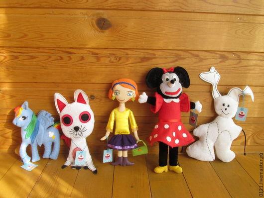 Сказочные персонажи ручной работы. Ярмарка Мастеров - ручная работа. Купить Игрушки по детским рисункам. Handmade. Детская игрушка, динозаврик