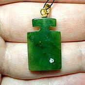 Украшения handmade. Livemaster - original item Green jade pendant 4. Handmade.