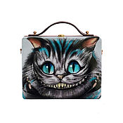 Сумки и аксессуары handmade. Livemaster - original item Women`s tote bag with Cheshire cat from the tree with painting. Handmade.