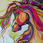 """Картины и панно ручной работы. Ярмарка Мастеров - ручная работа """"Волнующий Ветер Перемен"""" - картина с лошадью. Handmade."""