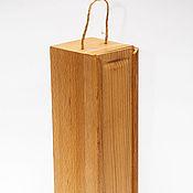 Подарки к праздникам handmade. Livemaster - original item Pencil box made of solid beech wood for wine. Handmade.