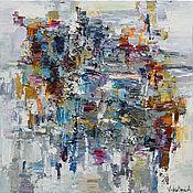 Картины и панно handmade. Livemaster - original item First snow - Abstract Painting - 70 x 70 cm - textured original oil pa. Handmade.