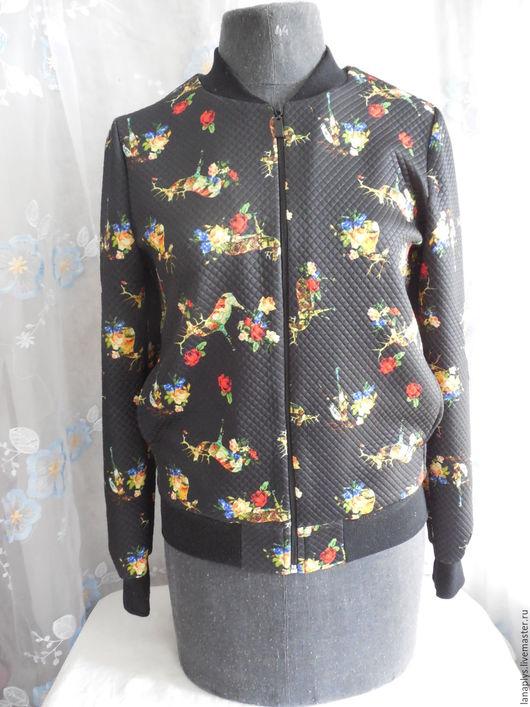 """Пиджаки, жакеты ручной работы. Ярмарка Мастеров - ручная работа. Купить Бомбер """"Бемби"""". Handmade. Комбинированный, модный трикотаж, сказка"""