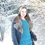 Одежда ручной работы. Ярмарка Мастеров - ручная работа Вязаное крючком платье-сарафан « Осенняя соната». Handmade.