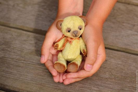 Мишки Тедди ручной работы. Ярмарка Мастеров - ручная работа. Купить Малыш Оливер. Handmade. Оливковый, винтажный плюш