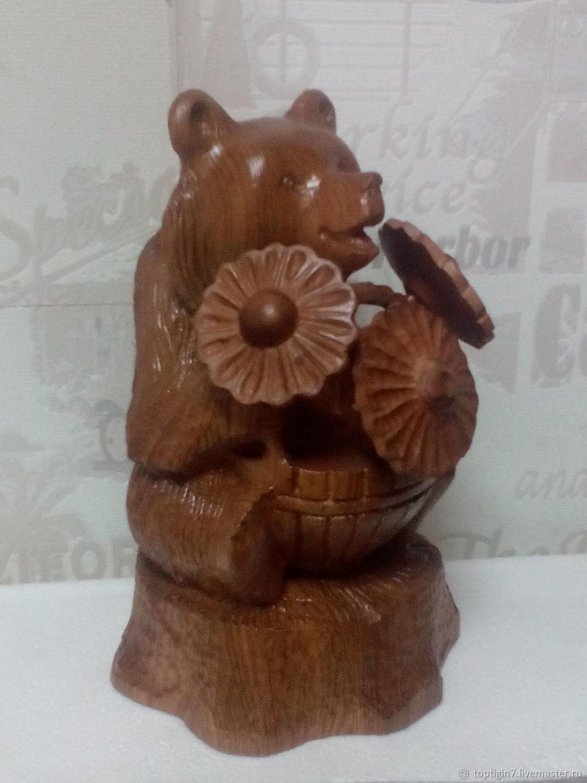 Мишка с цветами, Статуэтки, Екатеринбург,  Фото №1