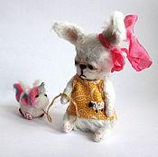 Куклы и игрушки ручной работы. Ярмарка Мастеров - ручная работа Зайка Сливка. Handmade.