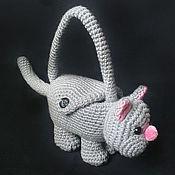 Работы для детей, ручной работы. Ярмарка Мастеров - ручная работа Сумка-кот. Handmade.