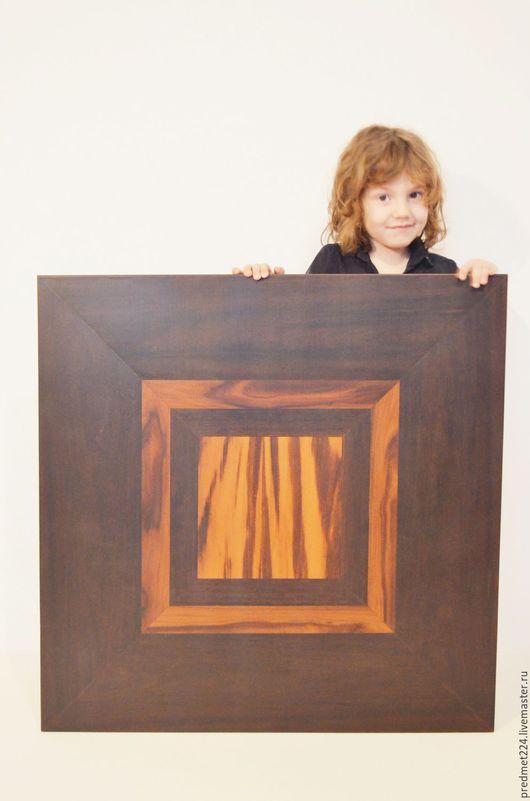 Этно ручной работы. Ярмарка Мастеров - ручная работа. Купить Панно 2. Handmade. Коричневый, оранжевый, квадрат, палисандр