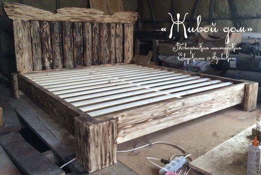 Мебель ручной работы. Ярмарка Мастеров - ручная работа. Купить Кровать. Handmade. Кровать из дерева, кровать из массива, кантри стиль
