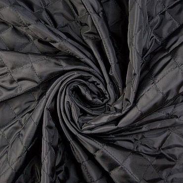 Materials for creativity handmade. Livemaster - original item Fabric: Italian quilted batting color black. Handmade.