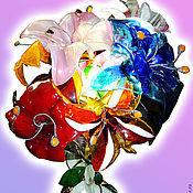 """Для дома и интерьера ручной работы. Ярмарка Мастеров - ручная работа Светильник """"Стеклянные цветы"""". Handmade."""