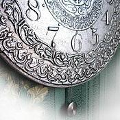 """Часы классические ручной работы. Ярмарка Мастеров - ручная работа Большие часы с маятником """"Серебряный век"""" интерьерные. Handmade."""
