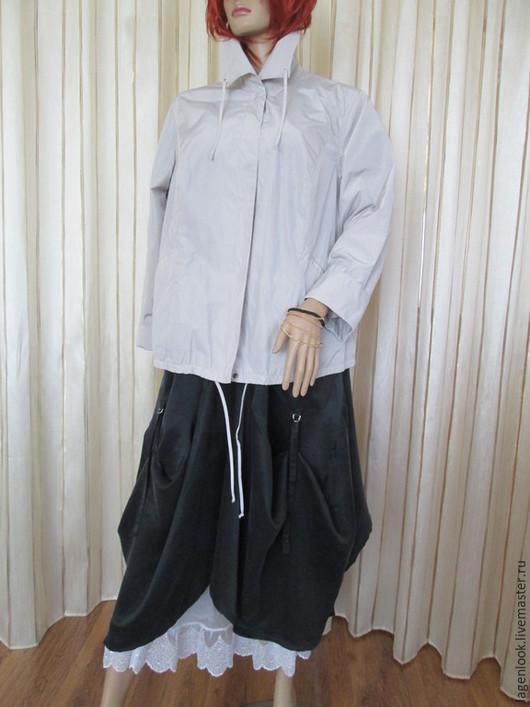 Большие размеры ручной работы. Ярмарка Мастеров - ручная работа. Купить Куртка  из плащевки. Handmade. Бежевый, большие размеры