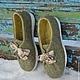 Обувь ручной работы. Заказать Полуботинки, валяные.. Евгения Комарова ( Amber ). Ярмарка Мастеров. Желто-зеленый, валенки